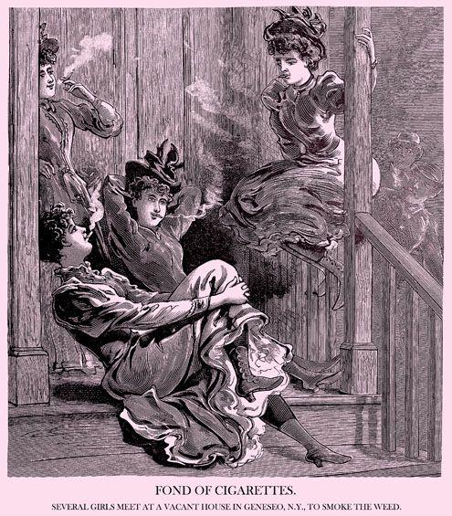cigarette-smoking harlots of yore: Black Hole, Weed, Victorian Ladies, Digital Smoke, My Style
