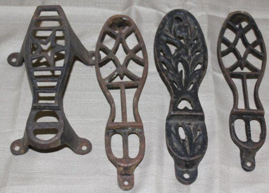 Cast Iron Shoe Shine Foot Rests Shoe Shine Shoe Shine Box Antiques