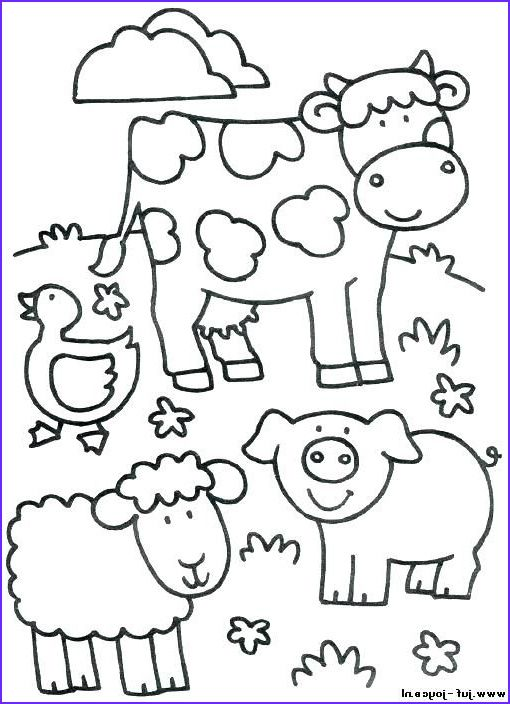 Image Result For Farm Animal Coloring Pages For Toddlers Farm Animal Coloring Pages Animal Coloring Pages Farm Coloring Pages