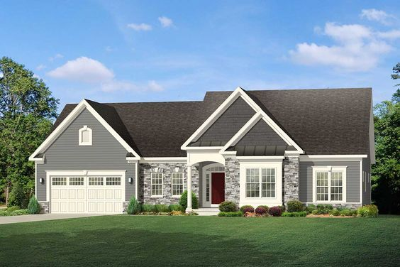 Plan 790031glv One Level Traditional House Plan Ranch Style House Plans House Layout Plans Traditional House Plans