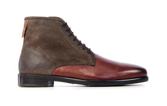 van assem bruine heren schoenen leren zolen