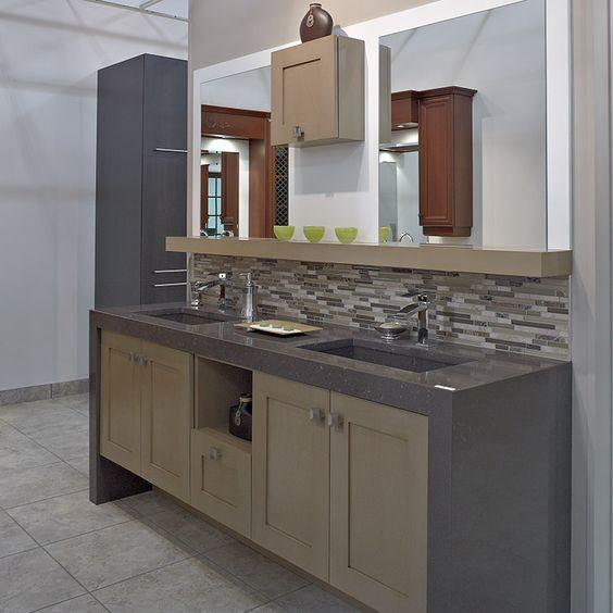 Vanite de salle de bain contemporaine en merisier id es - Vanite salle de bain contemporaine ...