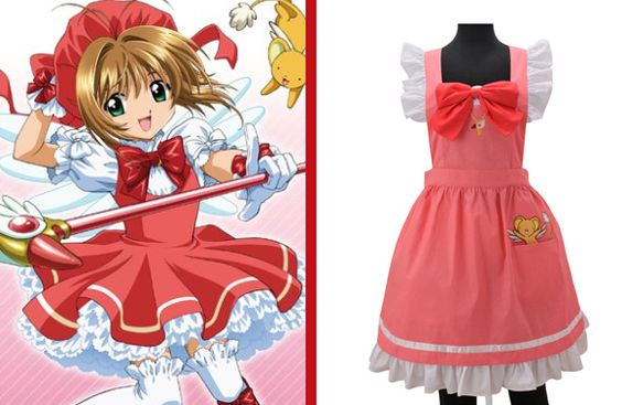 Cosplay comes to the kitchen with the Cardcaptor Sakura apron...want so bad