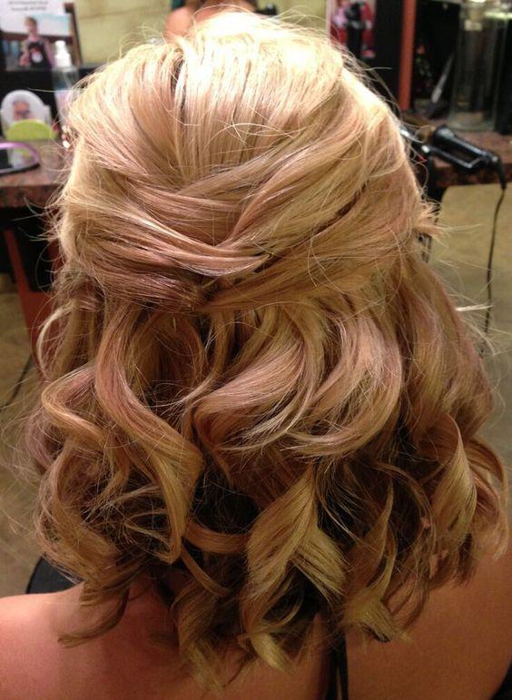 nice 8 Hochzeitsfrisur Ideen für Mittellang Haar #für #Haar #Hochzeitsfrisur…