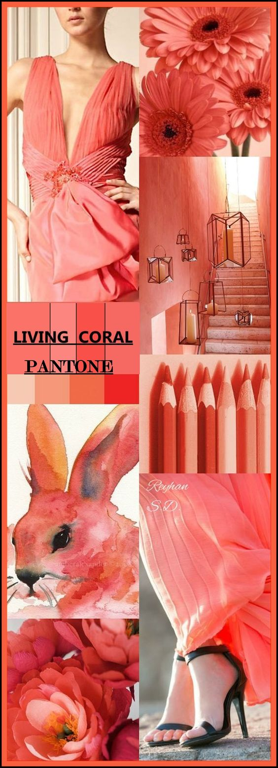 '' Living Coral- Pantone Spring/ Summer 2019 Color '' by Reyhan S.D.