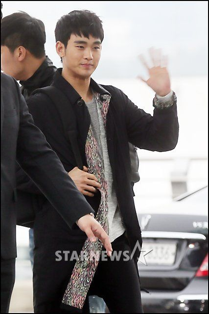 nice NOW] Actor Kim Soo Hyun on His way to Thailand for Fan Meeting Tomorrow