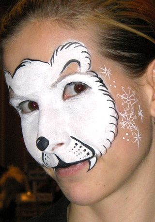 Polar Bear Face Paint, maquillage d\u0027ours polaire