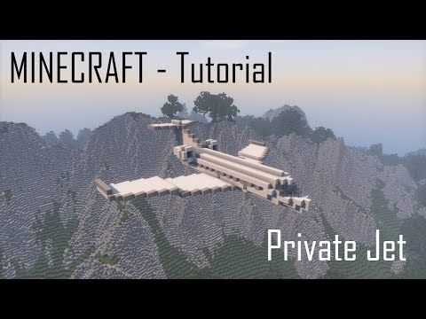 Minecraft Private Jet Tutorial Youtube Minecraft Blueprints Minecraft Minecraft Ships