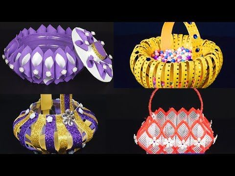 10 Diy Baskets That You Never Seen Before How To Make Foam Baskets Step By Step Tutorials Youtube How To Make Foam Diy Basket Plastic Canvas Candle