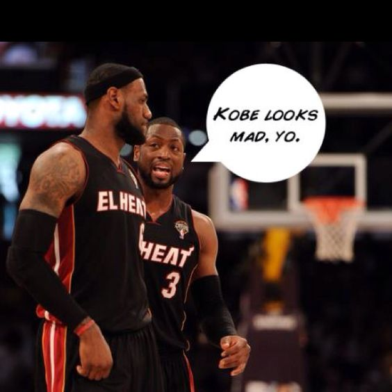 that's because you broke his nose d.wade! lol