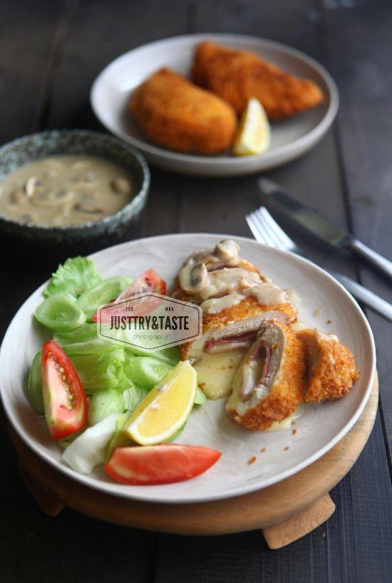 Resep Chicken Cordon Bleu Dengan Saus Jamur Jtt Chicken Cordon Bleu Resep Masakan Jamur