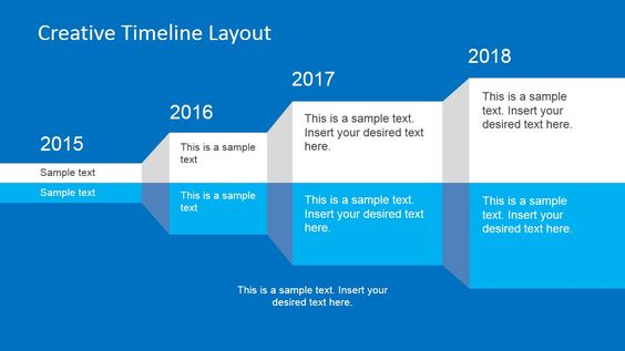 Creative Shelf Timeline Template for PowerPoint Creative - sample timelines