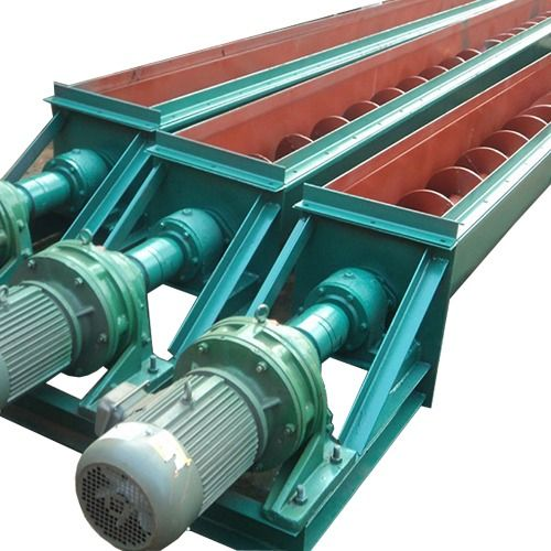 The Rotating Screw Blade Of The Ls Screw Conveyor Conveys The Material And Conveys It Through The Screw Conveyor The Conveyor Conveyors Stainless Steel Screws