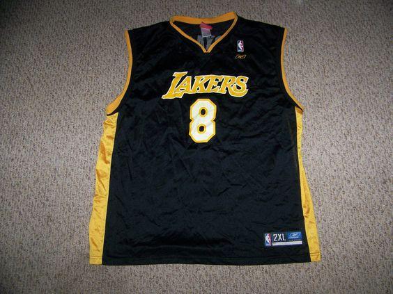 KOBE BRYANT #8 Los Angeles Lakers Basketball Jersey -- Black 2XL