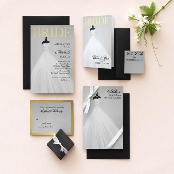 Create bridal shower perfection. Customize your bridal shower suite, from invitations to game cards, and beyond.