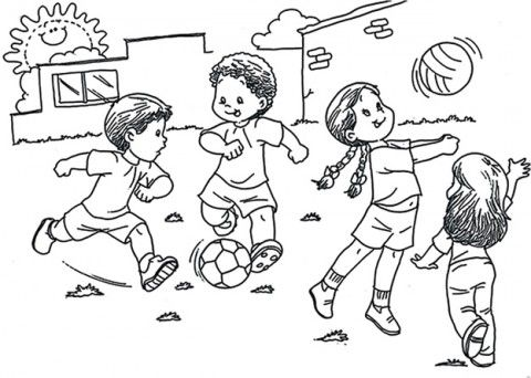 Resultado De Imagen Para Imagenes De Educacion Fisica Para Colorear Preschool Designs Coloring Pages Coloring For Kids