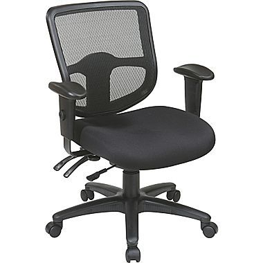 Office Star 98344-30 Pro-Line II Fabric Task Chair with Adjustable Arms, Black - chairs we currently have $230