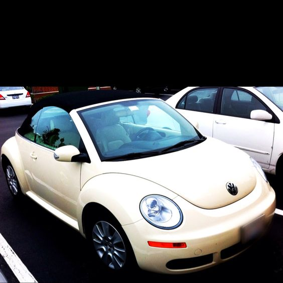 Dream Car: Cream Convertible VW Beetle With Black Top