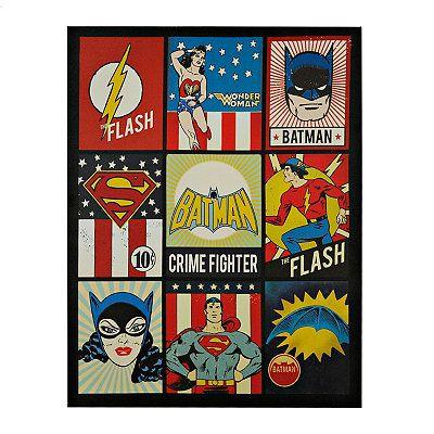 Vintage DC Comic Patchwork Canvas Art Print // kirklands.com