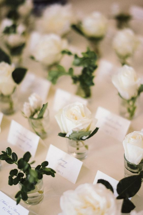 Flower Escort Card Table