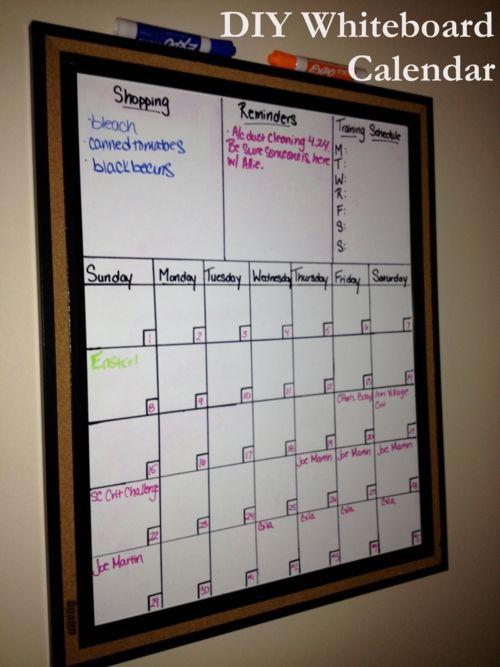 Calendar Whiteboard Ideas : Calendar the plan and diy whiteboard on pinterest