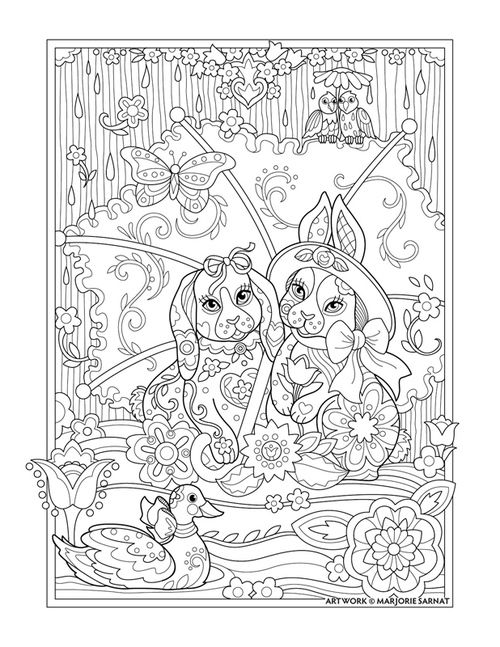 : Pampered Pets Coloring Book I Marjorie Sarnat: