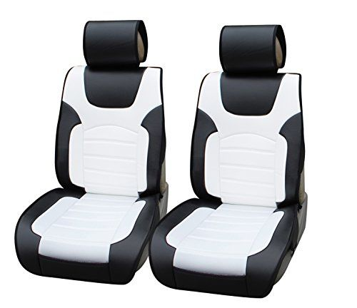 180206 Black White 2 Front Car Seat Cover Cushions Leather Like Vinyl Compatible To Honda Cr V 2015 2016 Leather Car Seat Covers Carseat Cover Car Seats