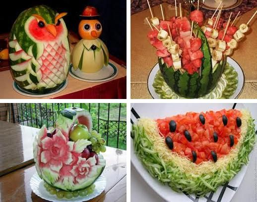 Food Design Ideas Watermelon Fruit Bowl Ideas Watermelons