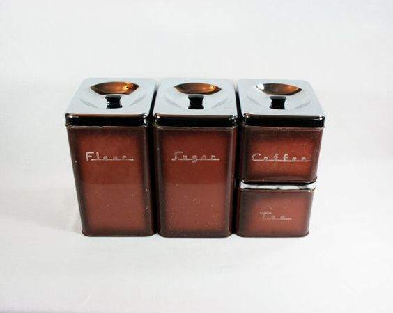 Kitchen Canister Sets Brown And Canisters On