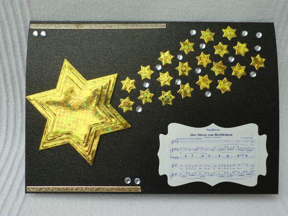 """Weihnachtskarte """"Der Stern von Bethlehem"""" von UNIKAT-die Kreativ-Werkstatt auf DaWanda.com"""