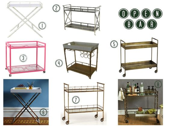 I just really want a cool bar cart...gold I think...like #7 on the list maybe.
