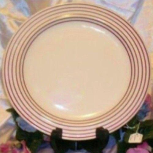 Ranmaru Contempo Burgundy Bands 10 3 4 Dinner Stoneware Plate 7022 ...