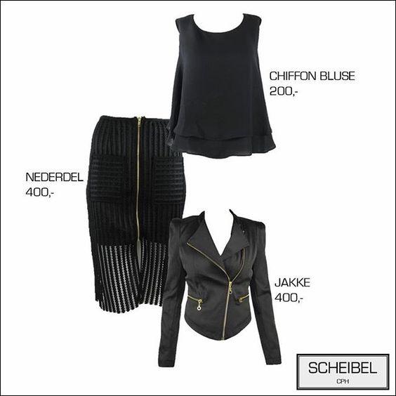 Fashion, black jacket, chiffon shirt, black pencil skirt, fashion inspiration, Copenhagen, Scheibel Cph