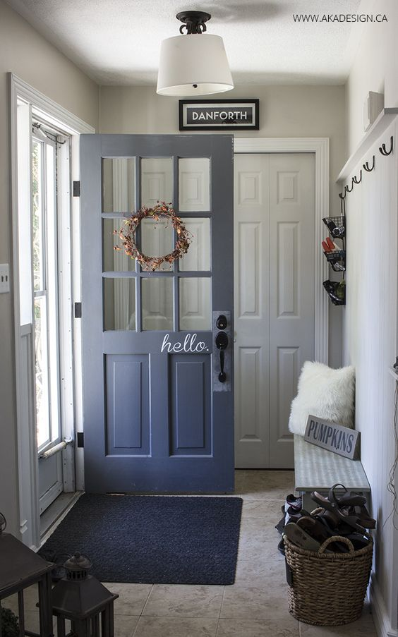 """hello"" on the door - adorbs!"