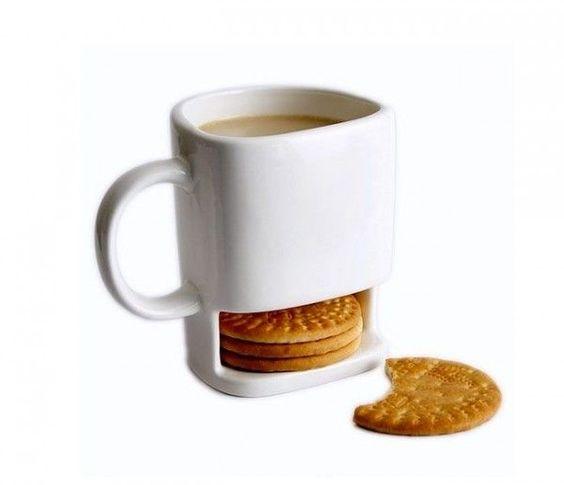 xícara com porta bolacha/biscoito !