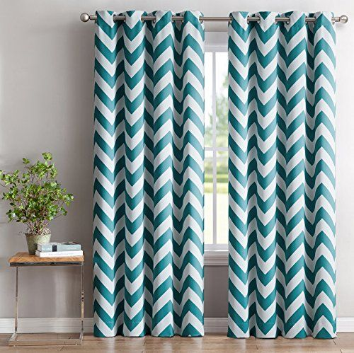 Curtains Ideas chevron print curtains : ME Chevron Print Thermal Insulated Room Darkening Blackout ...