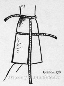 Falda sobre patrón tipo 178