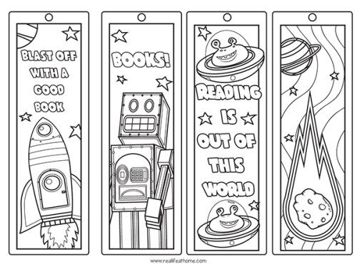 Free Printable Color Your Own Space Bookmarks And Reading Log For Kids Bookmarks Printable Free Printable Bookmarks Coloring Bookmarks Free
