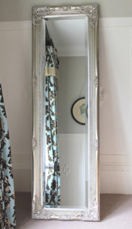 Silver ornate mirror tall long vintage chic dressing eBay  Dressing Vintage  and Chic on Pinterest. Long Mirror For Bedroom