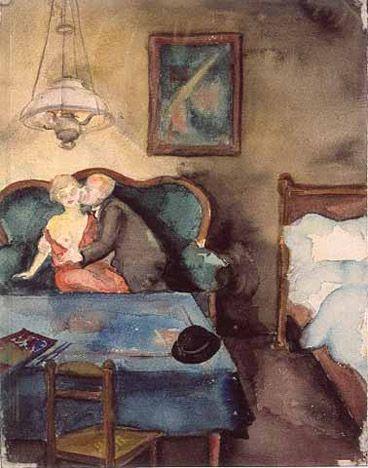 Liebespaar, 1922/23, Elfriede Lohse Wächtler