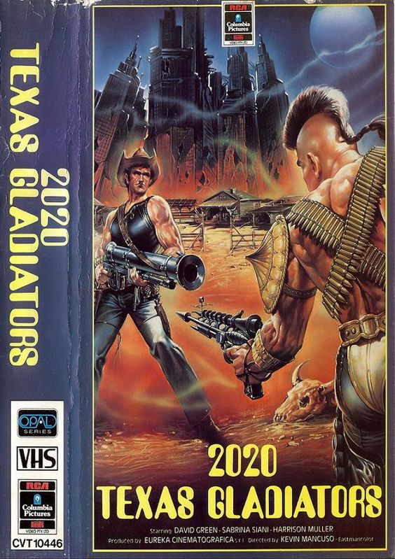 2020 Texas Gladiators (1984) Wasteland/Scifi VHS covers