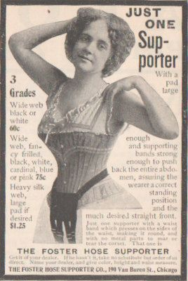 Foster Supporter Matted Ad, 1900s paper ad, Unusual Home Decor, undergarment ad, Vintage Ad, unusual gift, posing woman ad, McClure's,corset by HistoryRescued on Etsy