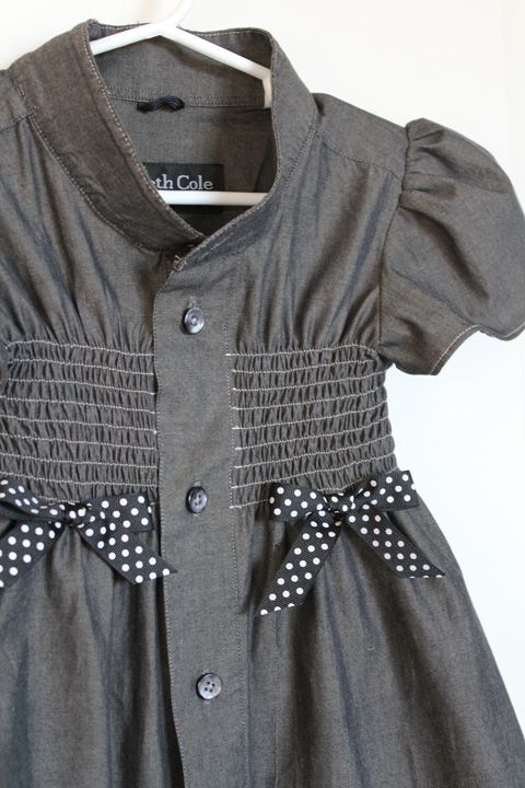 Girl's Dress from Men's Dress Shirt