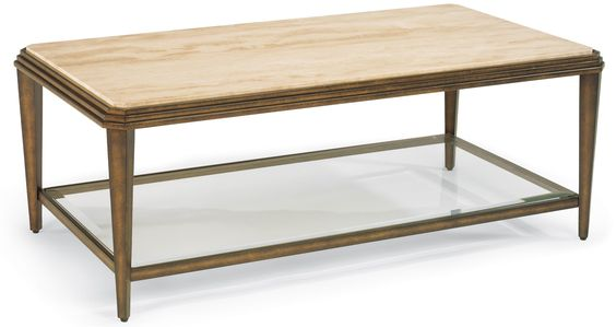 Seville Metal Cocktail Table With Marble Top By Flexsteel