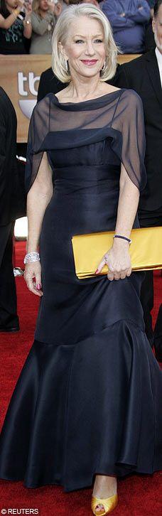 Dame Helen Mirren in black dress