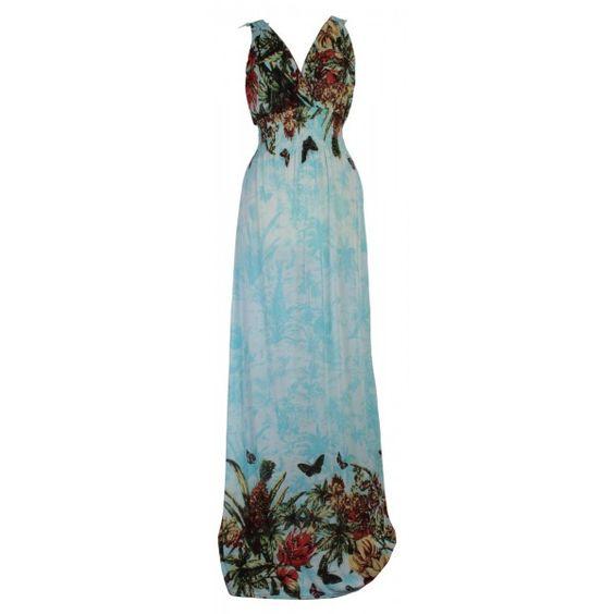 maxi dresses for tall women  Hawaiian Maxi Dress with Laced Back ...