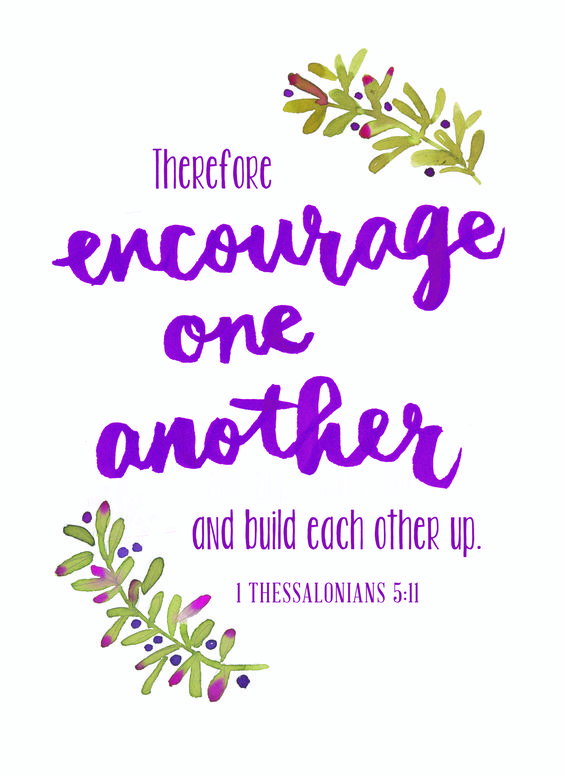 """Therefore encourage one another and build each other up."" {1 Thessalonians 5:11, HCSB} Following His Lead Will Never Let You Down Encouraging one another doesn't sound so hard. A fist […]:"