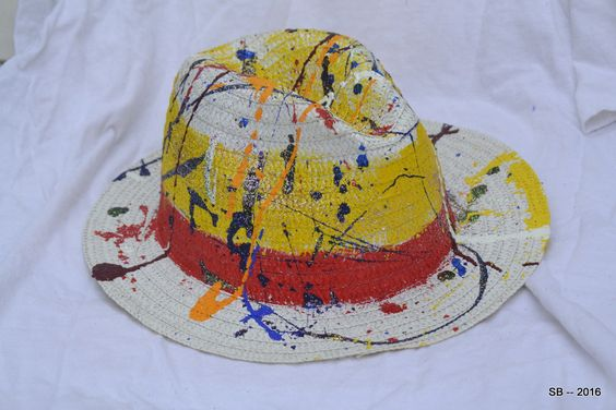 Lightweight Hand painted fedora by bstevenbphotography on Etsy