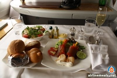 Emirates Air has the fanciest first class airline meals