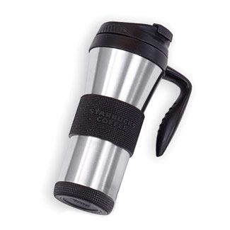 Doesn't have to be Starbucks, but I really like the one travel mug we got last year.  Could always use another